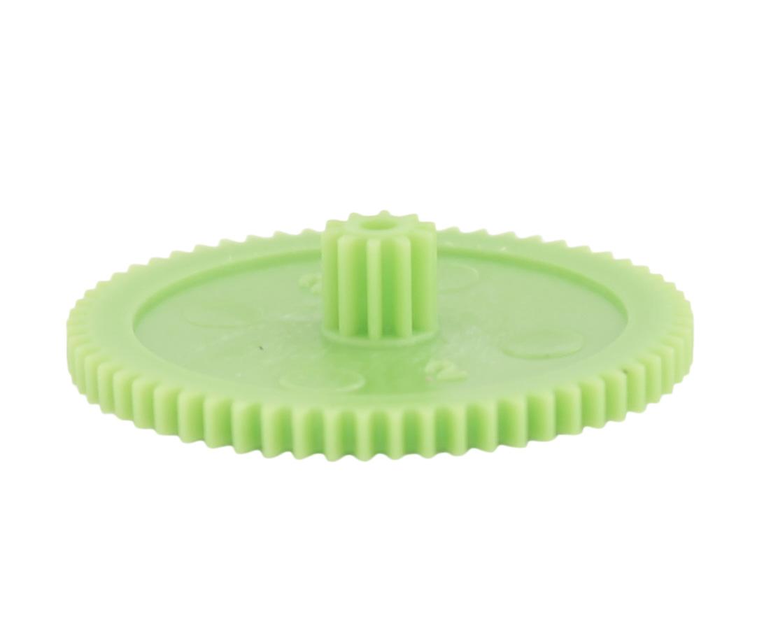 Engranaje de plástico Módulo 0.500, Dientes 62Z, Forma con piñon