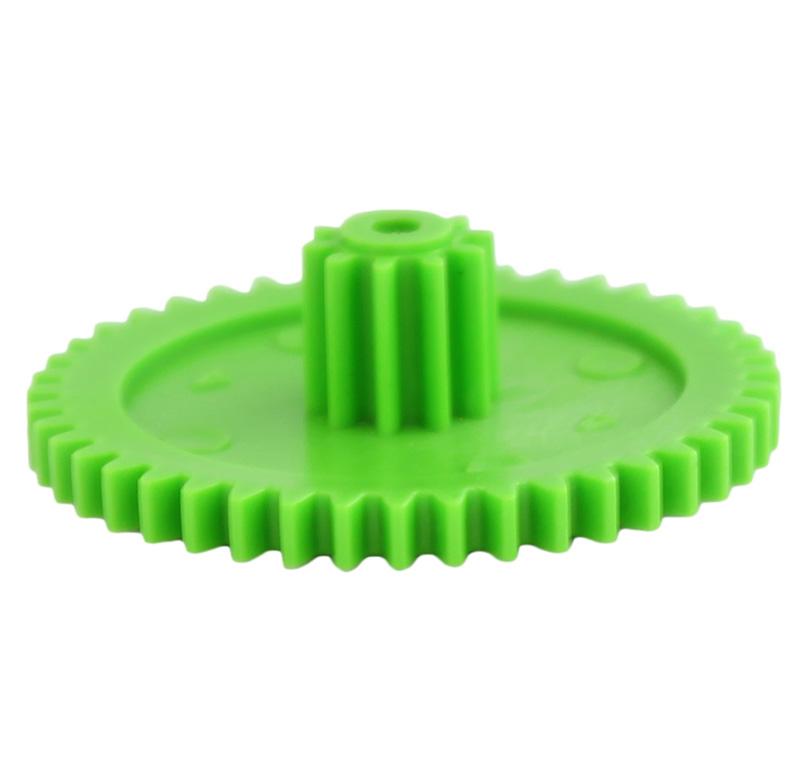 Engranaje de plástico Módulo 0.750, Dientes 44Z, Forma con piñon