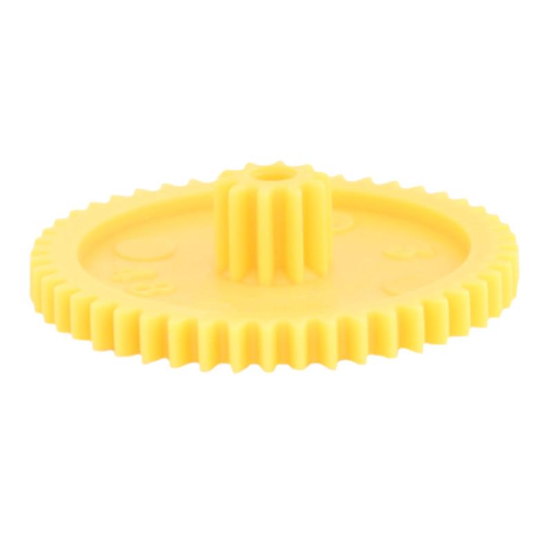 Engranaje de plástico Módulo 0.500, Dientes 48Z, Forma con piñon
