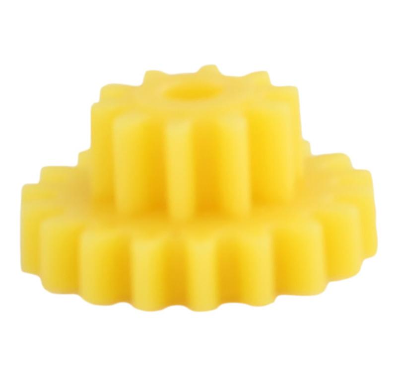 Engranaje de plástico Módulo 0.750, Dientes 18Z, Forma con piñon