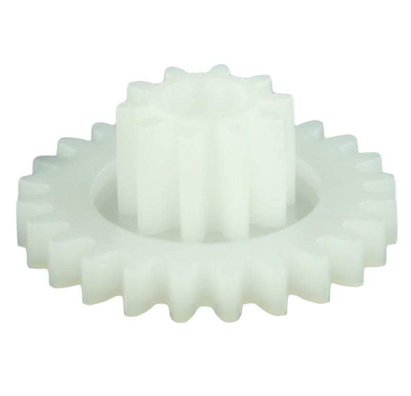 Engranaje de plástico Módulo 0.750, Dientes 24Z, Forma con piñon