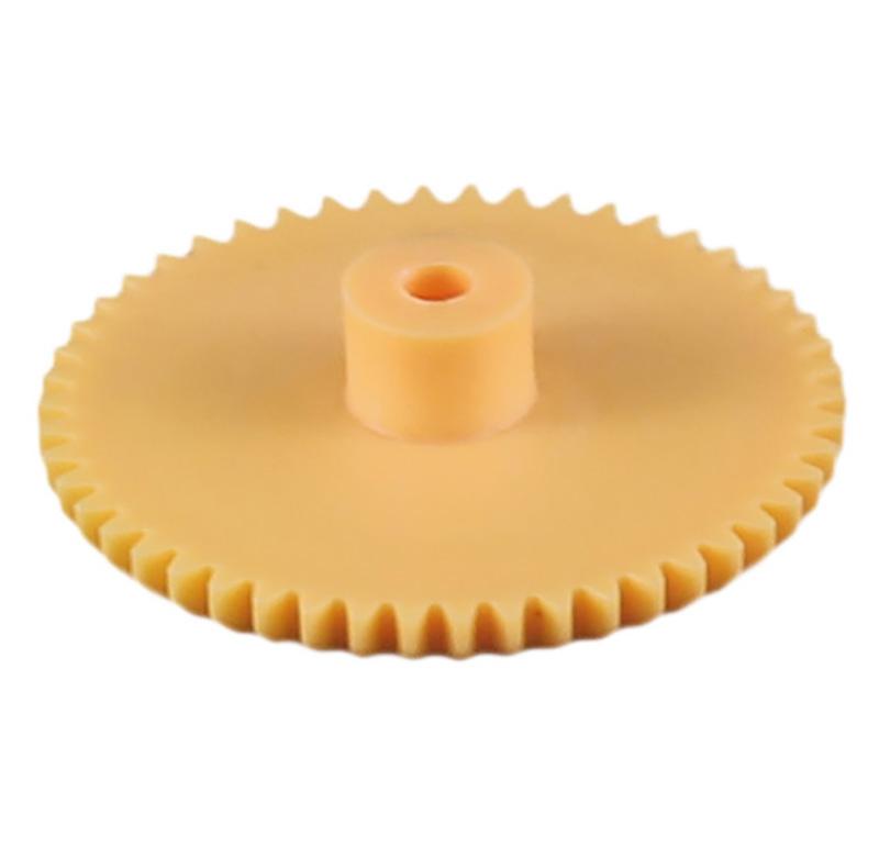 Engranaje de plástico Módulo 0.500, Dientes 50Z, Forma con bulon