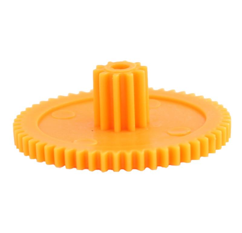 Engranaje de plástico Módulo 0.500, Dientes 54Z, Forma con piñon