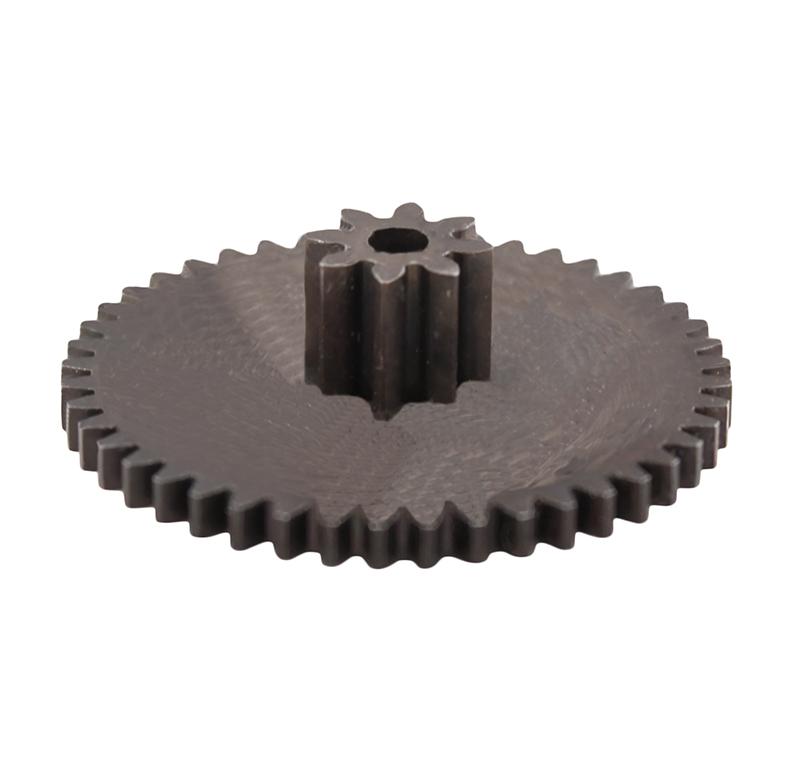 Engranaje de metal Módulo 0.600, Dientes 45Z, Forma con piñon