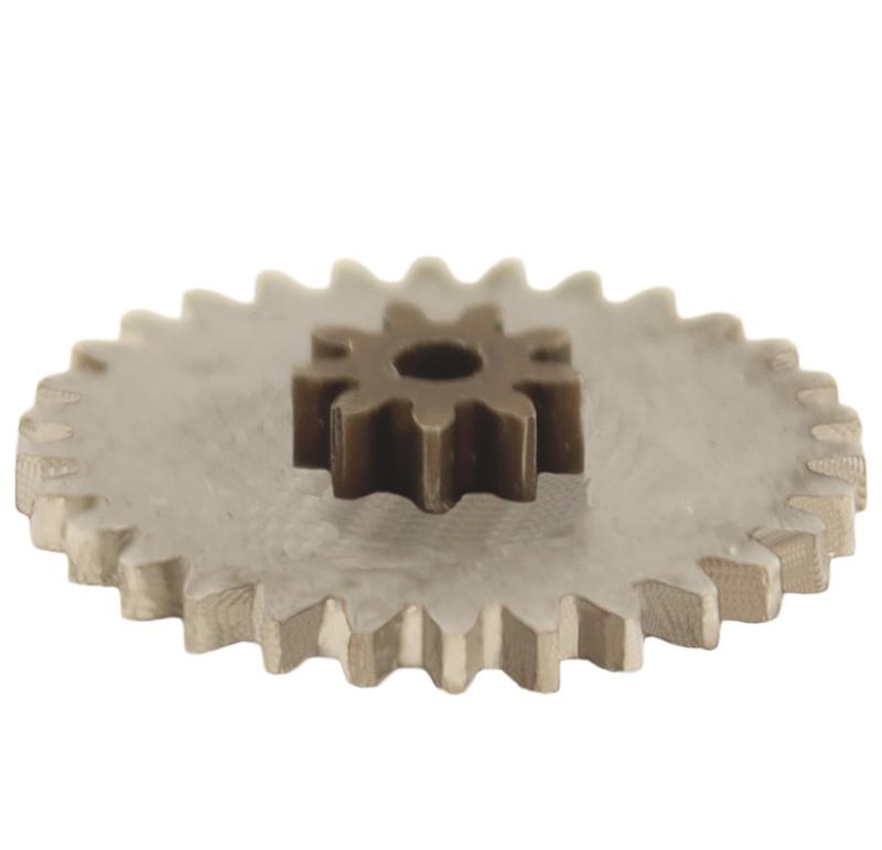 Engranaje de metal Módulo 0.600, Dientes 30Z, Forma con piñon