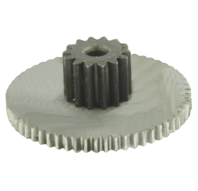 Engranaje de metal Módulo 0.300, Dientes 60Z, Forma con piñon