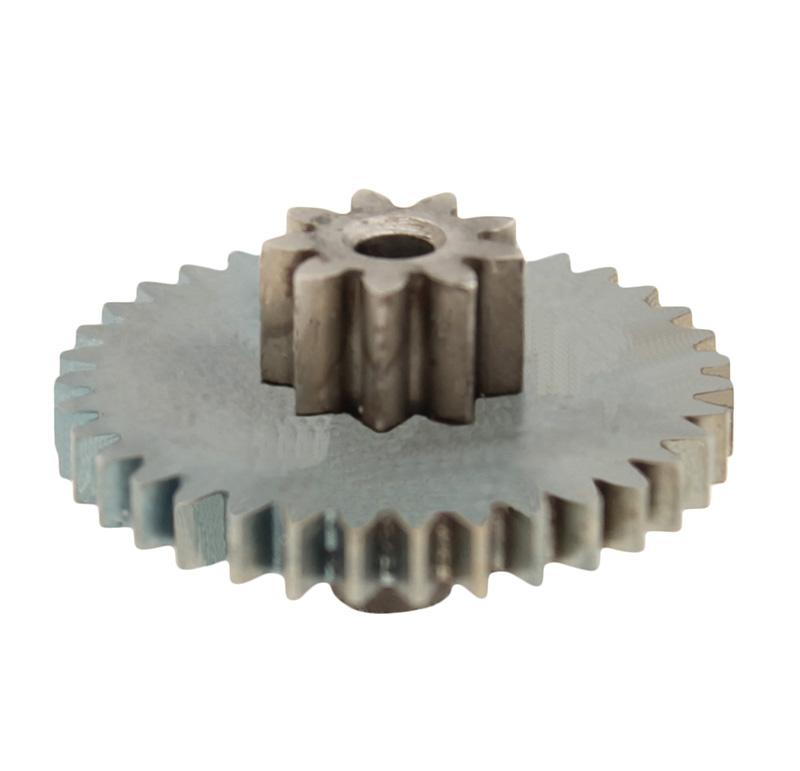 Engranaje de metal Módulo 0.600, Dientes 35Z, Forma con piñon