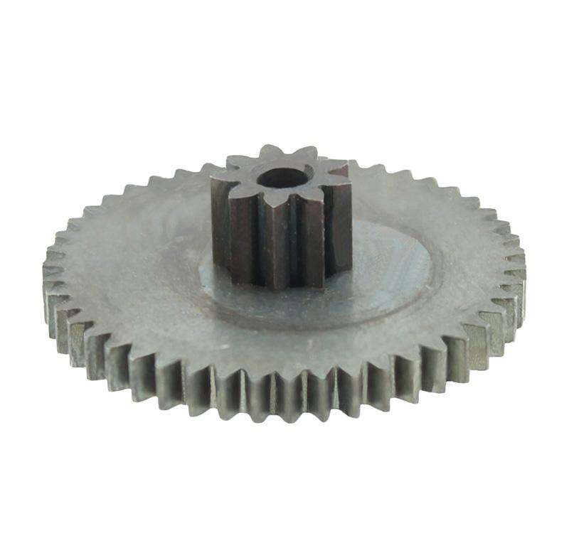 Engranaje de metal Módulo 0.500, Dientes 47Z, Forma con piñon