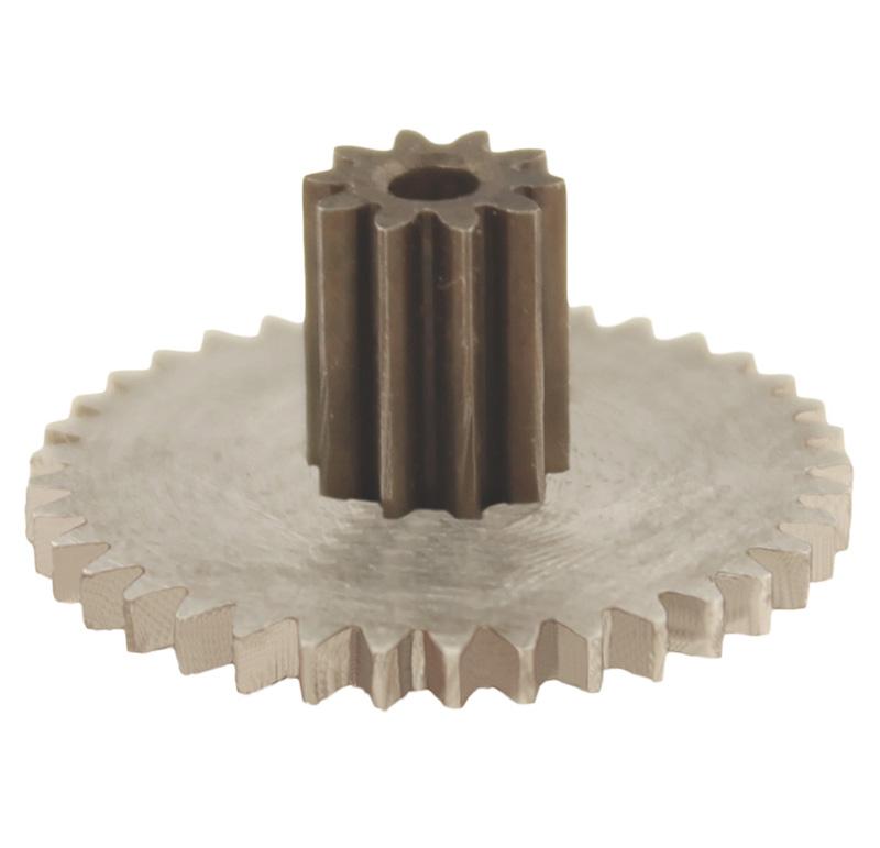 Engranaje de metal Módulo 0.500, Dientes 37Z, Forma con piñon