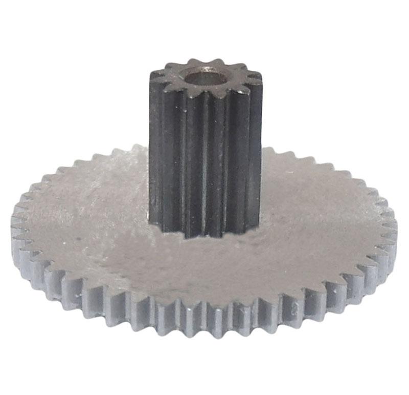 Engranaje de metal Módulo 0.400, Dientes 47Z, Forma con piñon
