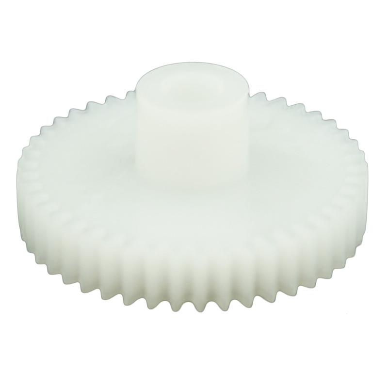 Engranaje de plástico Módulo 0.500, Dientes 45Z, Forma con bulon