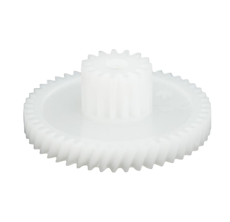 Engranaje de plástico Módulo 0.500, Dientes 49Z, Forma con piñon