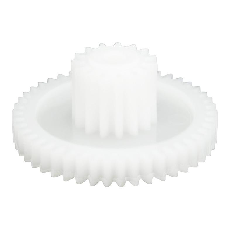 Engranaje de plástico Módulo 0.600, Dientes 46Z, Forma con piñon