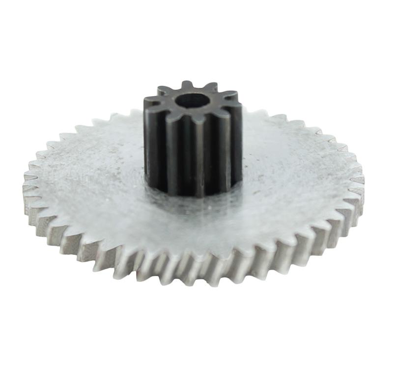 Engranaje de metal Módulo 0.500, Dientes 45Z, Forma con piñon