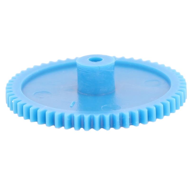 Engranaje de plástico Módulo 0.500, Dientes 56Z, Forma con bulon