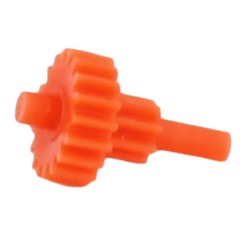 Engranaje de plástico Módulo 0.300, Dientes 18Z, Forma con piñon