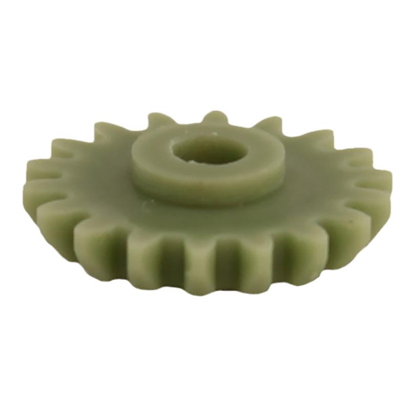 Engranaje de plástico Módulo 0.750, Dientes 18Z, Forma con bulon