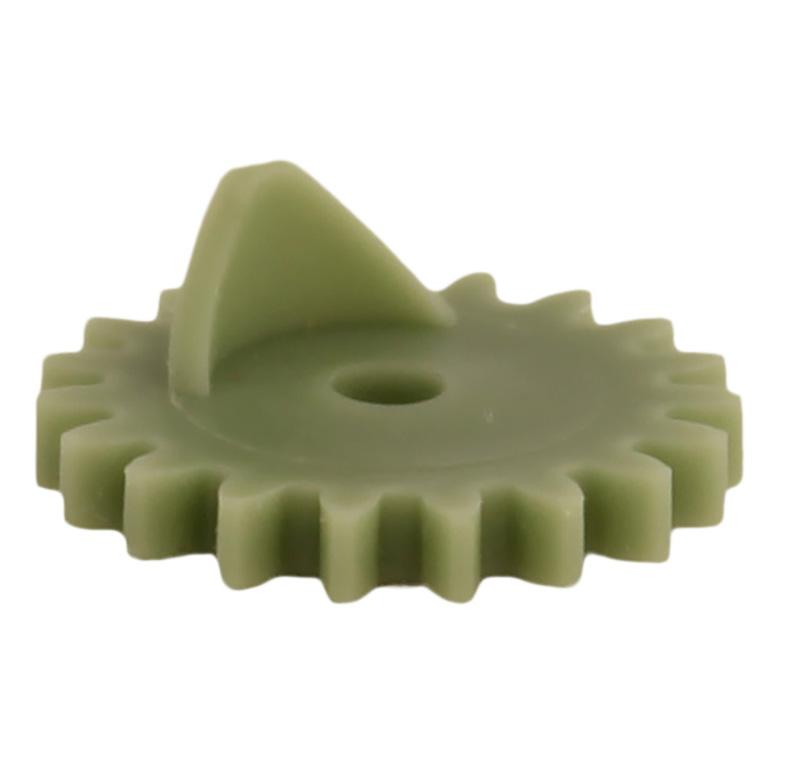 Engranaje de plástico Módulo 0.750, Dientes 19Z, Forma