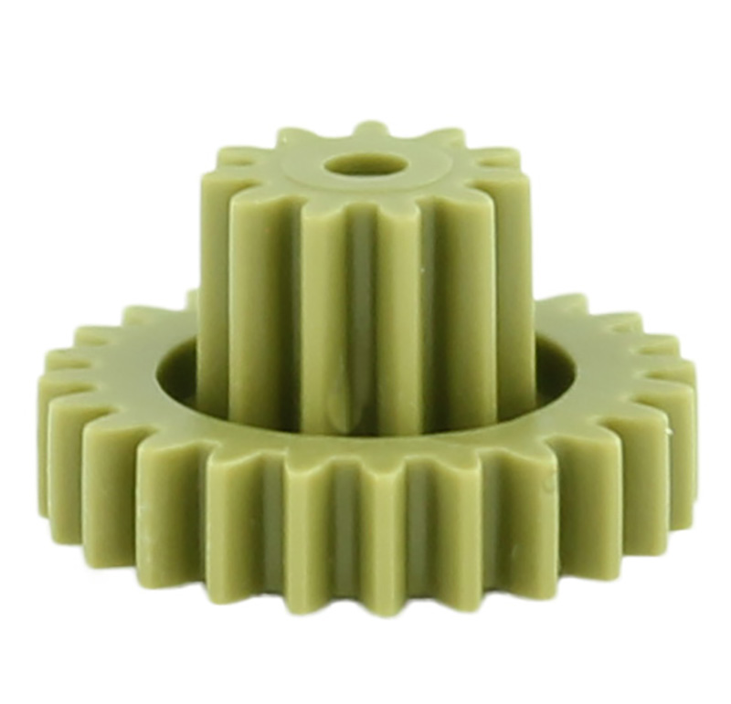 Engranaje de plástico Módulo 0.600, Dientes 24Z, Forma con piñon