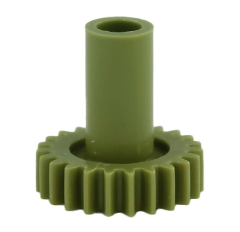 Engranaje de plástico Módulo 0.600, Dientes 23Z, Forma con bulon