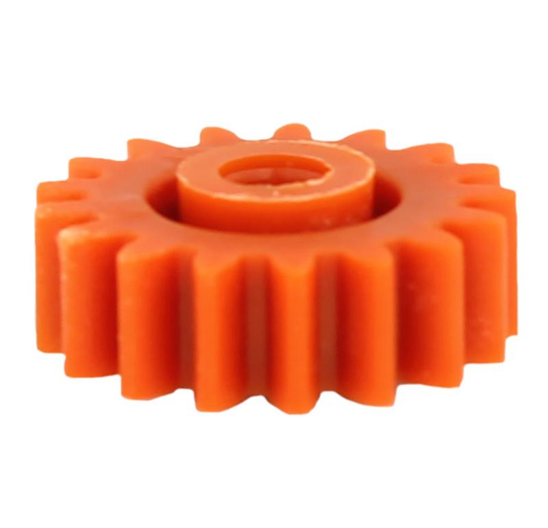 Engranaje de plástico Módulo 1.000, Dientes 17Z, Forma con bulon