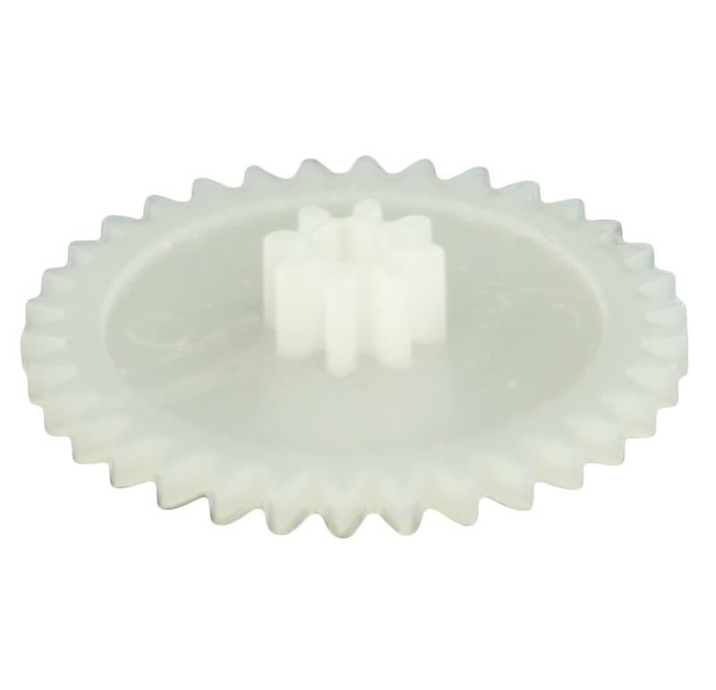 Engranaje de plástico Módulo 0.500, Dientes 34Z, Forma con piñon