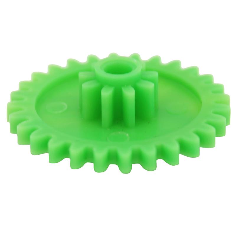 Engranaje de plástico Módulo 1.000, Dientes 28Z, Forma con piñon