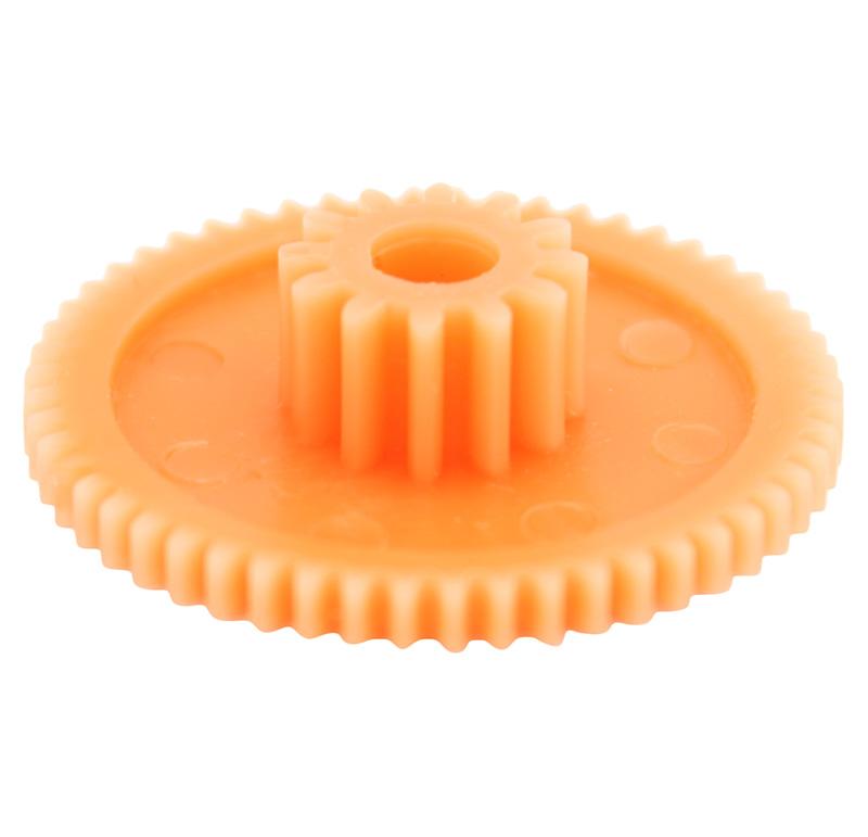 Engranaje de plástico Módulo 0.500, Dientes 53Z, Forma con piñon
