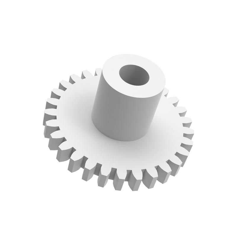 Engranaje de plástico Módulo 0.400, Dientes 29Z, Forma con bulon