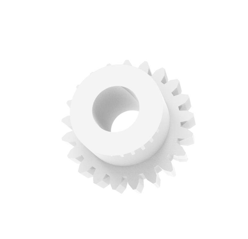 Engranaje de plástico Módulo 0.400, Dientes 21Z, Forma con bulon