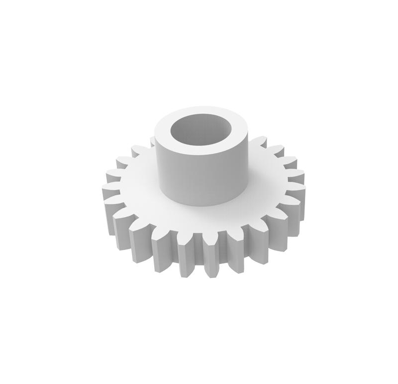 Engranaje de plástico Módulo 0.400, Dientes 24Z, Forma con bulon