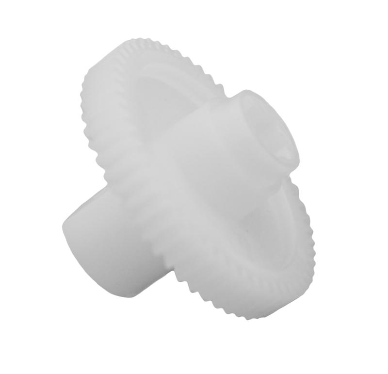 Engranaje de plástico Módulo 0.700, Dientes 54Z, Forma con bulon