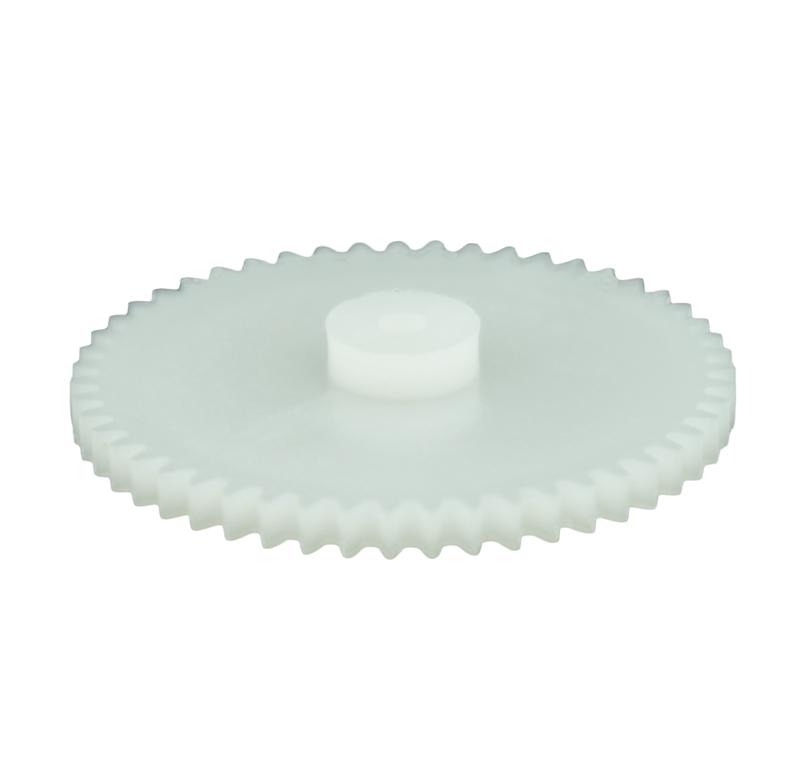 Engranaje de plástico Módulo 0.500, Dientes 51Z, Forma con bulon