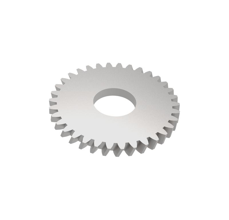 Engranaje de metal Módulo 0.500, Dientes 34Z, Forma