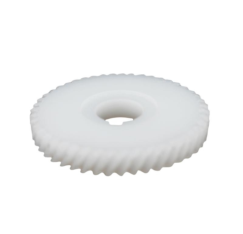 Engranaje de plástico Módulo 1.250, Dientes 47Z, Forma helicoidal