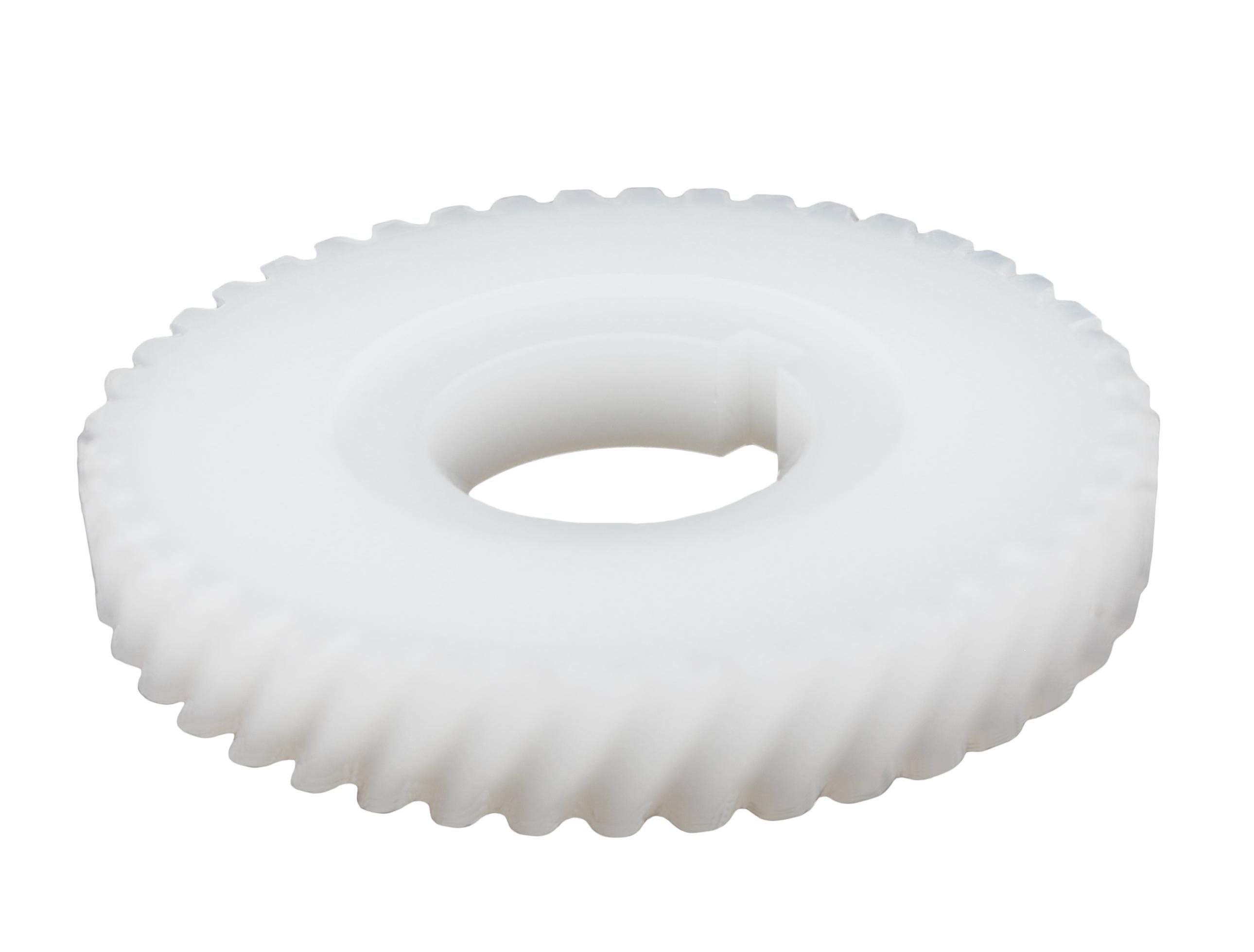Engranaje de plástico Módulo 1.250, Dientes 43Z, Forma helicoidal