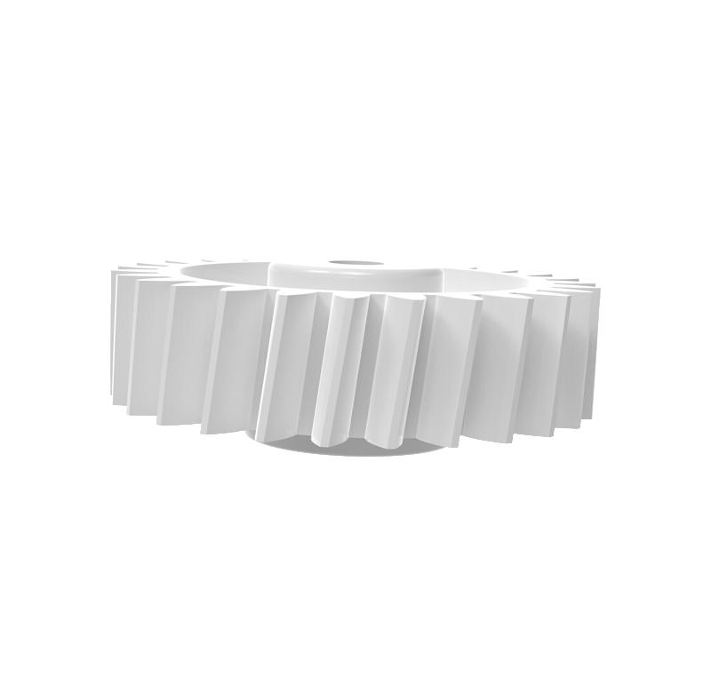 Engranaje de plástico Módulo 0.600, Dientes 27Z, Forma helicoidal