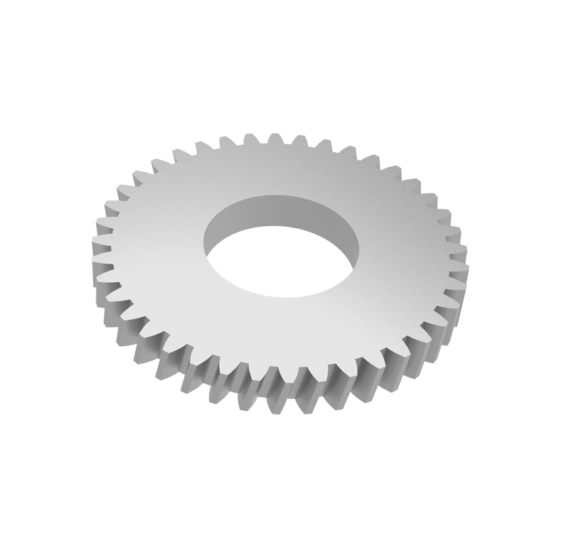 Engranaje de metal Módulo 0.600, Dientes 40Z, Forma helicoidal