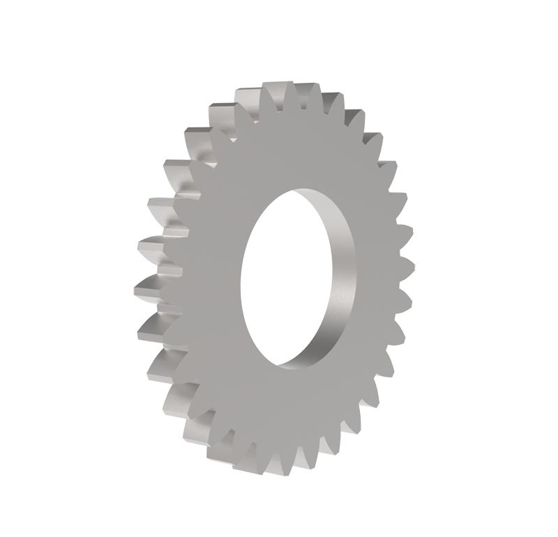 Engranaje de metal Módulo 0.750, Dientes 30Z, Forma