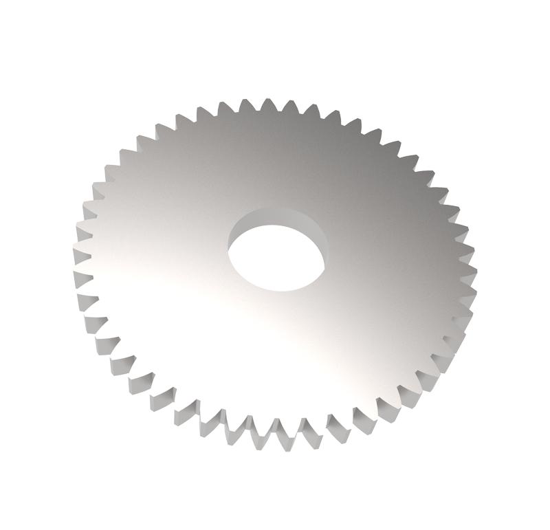 Engranaje de metal Módulo 0.500, Dientes 48Z, Forma recto