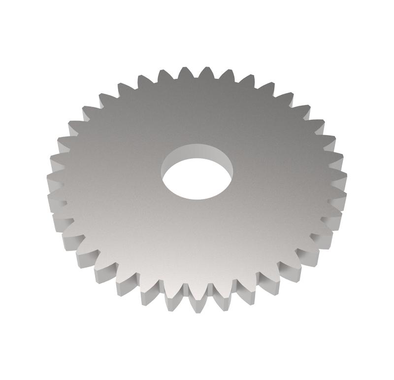Engranaje de metal Módulo 0.500, Dientes 37Z, Forma recto