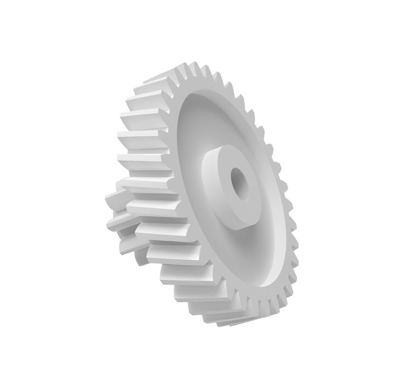 Engranaje de plástico Módulo 0.400, Dientes 34Z, Forma con piñon