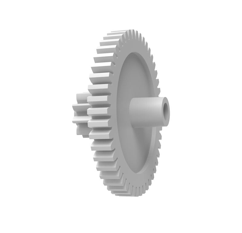 Engranaje de plástico Módulo 0.400, Dientes 47Z, Forma con piñon