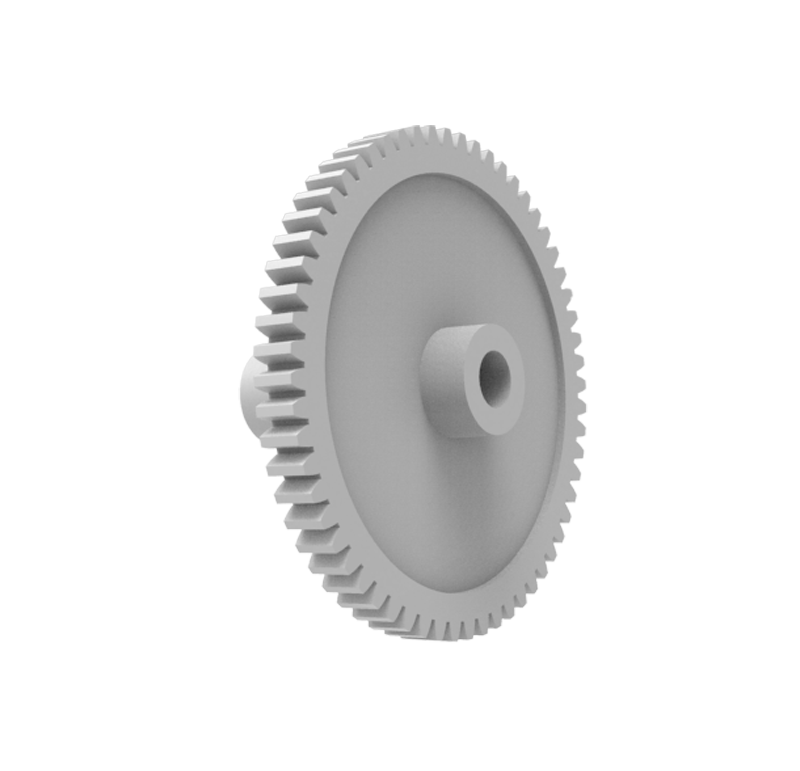 Engranaje de plástico Módulo 0.300, Dientes 60Z, Forma con piñon