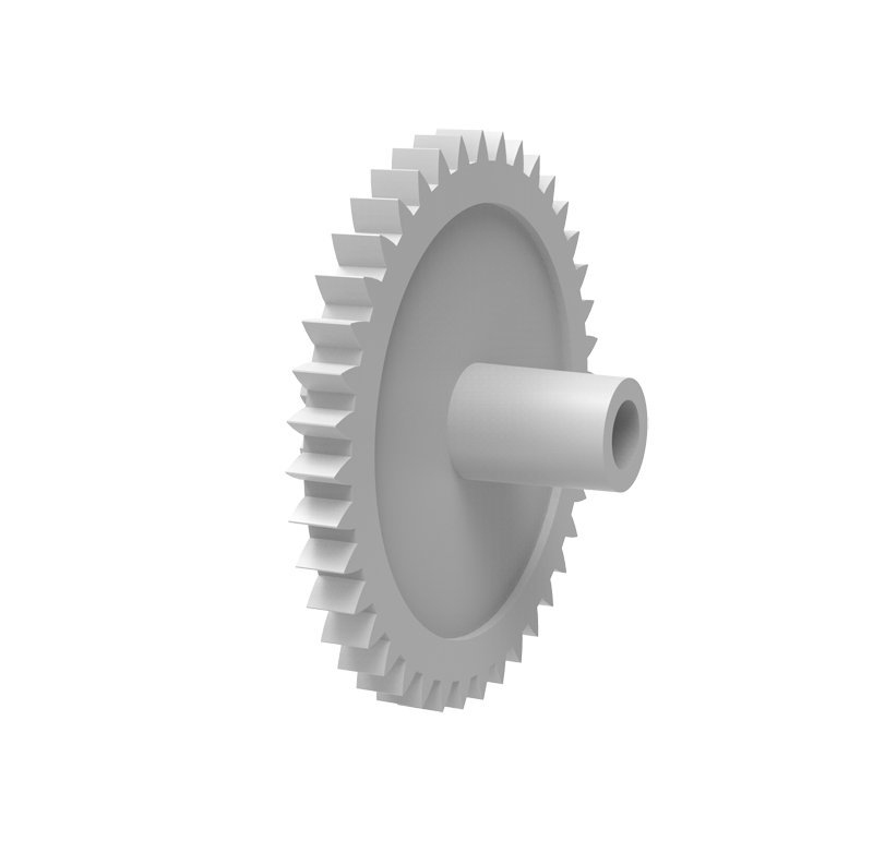 Engranaje de plástico Módulo 0.400, Dientes 40Z, Forma con piñon