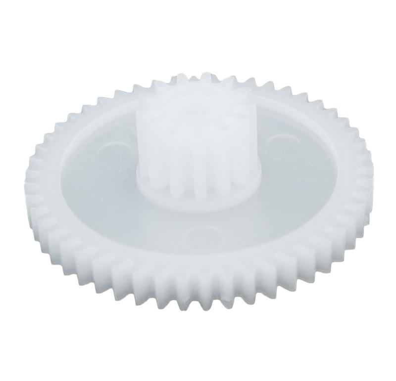 Engranaje de plástico Módulo 0.600, Dientes 50Z, Forma con piñon