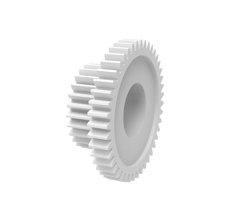 Engranaje de plástico Módulo 0.400, Dientes 43Z, Forma con piñon
