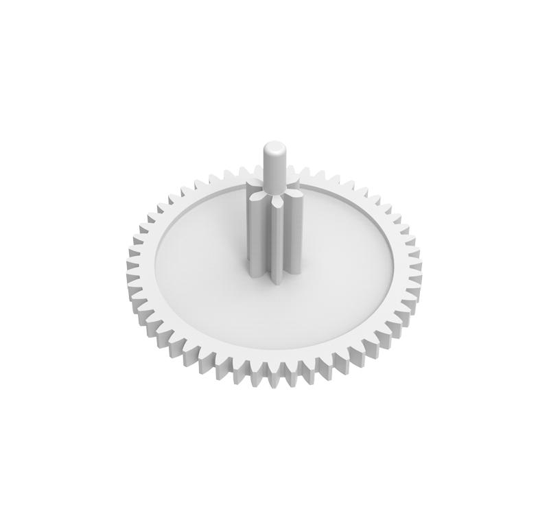 Engranaje de plástico Módulo 0.400, Dientes 52Z, Forma con piñon