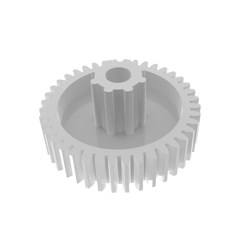 Engranaje de plástico Módulo 0.600, Dientes 40Z, Forma con bulon