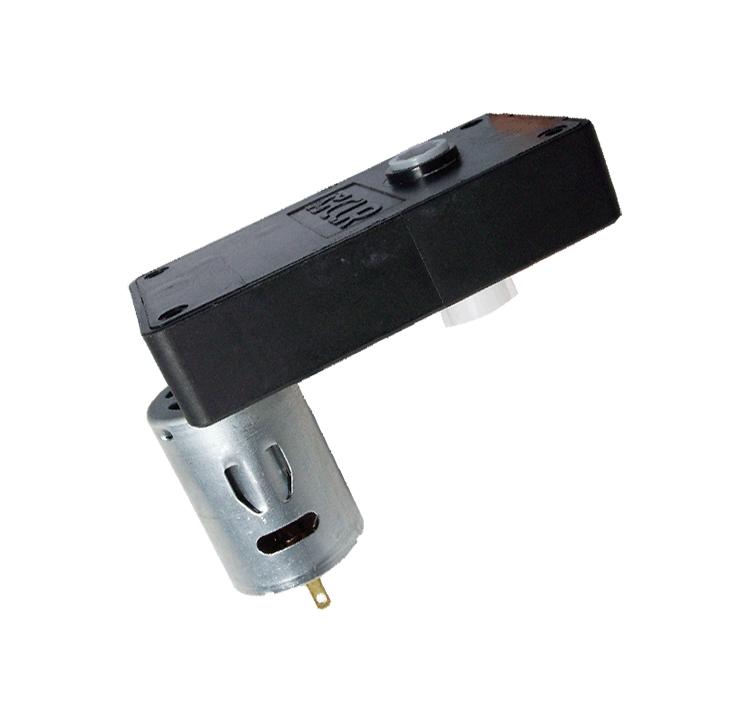 Motorreductor de corriente continua para las máquinas expendedoras. Simple acoplamiento, permite un montaje rápido del motorreductor. El motorreductor se compone de un motor DC y de una caja de PA6+30GF. Los engranajes de la reducción se realizan en resina acetálica. Unidad estándar de acoplamiento del eje cuadrado 6,5 x 6,5 mm. Par de utilización hasta 1 N • m Longitud motor: 37.8 mm. Reducción 65:1  PLAZO DE ENTREGA MÁXIMO: 2/3 semanas.Se confirmará a la recepción del pedido.  Los datos marcados en rojo exceden el par máximo de utilización.